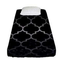 Tile1 Black Marble & Gray Metal 1 Fitted Sheet (single Size) by trendistuff