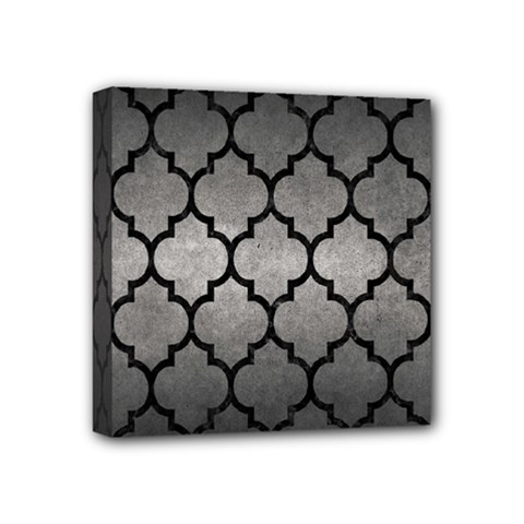 Tile1 Black Marble & Gray Metal 1 (r) Mini Canvas 4  X 4  by trendistuff