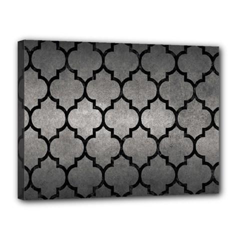 Tile1 Black Marble & Gray Metal 1 (r) Canvas 16  X 12  by trendistuff
