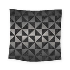 Triangle1 Black Marble & Gray Metal 1 Square Tapestry (small) by trendistuff