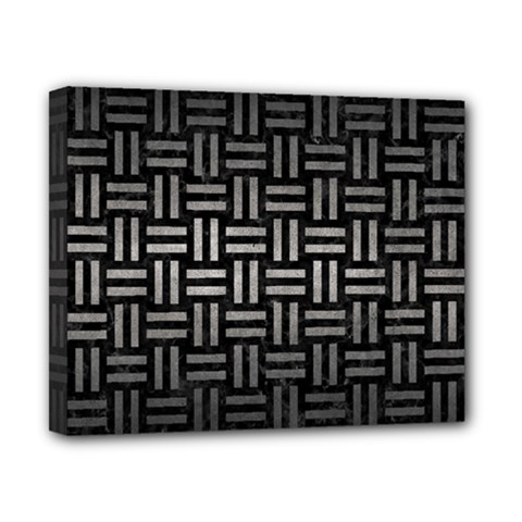 Woven1 Black Marble & Gray Metal 1 Canvas 10  X 8  by trendistuff