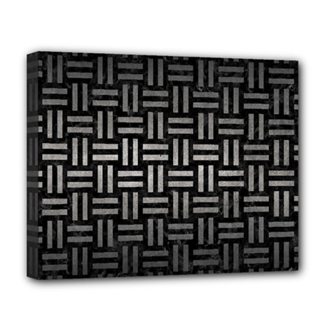 Woven1 Black Marble & Gray Metal 1 Deluxe Canvas 20  X 16   by trendistuff