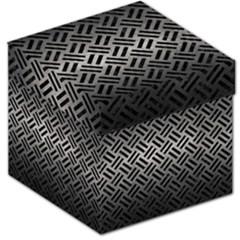 Woven2 Black Marble & Gray Metal 1 (r) Storage Stool 12   by trendistuff