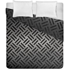 Woven2 Black Marble & Gray Metal 1 (r) Duvet Cover Double Side (california King Size) by trendistuff