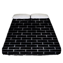 Brick1 Black Marble & Gray Metal 2 Fitted Sheet (queen Size) by trendistuff