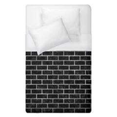 Brick1 Black Marble & Gray Metal 2 Duvet Cover (single Size) by trendistuff