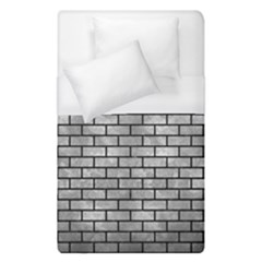 Brick1 Black Marble & Gray Metal 2 (r) Duvet Cover (single Size) by trendistuff