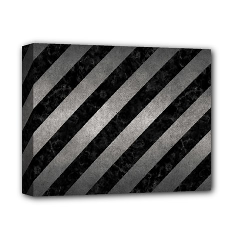 Stripes3 Black Marble & Gray Metal 1 Deluxe Canvas 14  X 11  by trendistuff