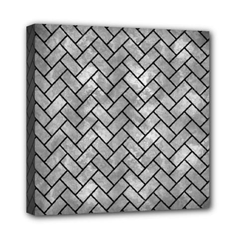 Brick2 Black Marble & Gray Metal 2 (r) Mini Canvas 8  X 8  by trendistuff