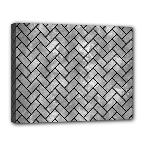 Brick2 Black Marble & Gray Metal 2 (r) Canvas 14  X 11  by trendistuff