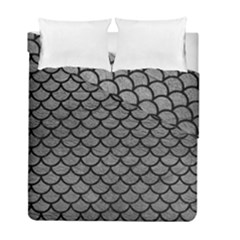 Scales1 Black Marble & Gray Leather (r) Duvet Cover Double Side (full/ Double Size) by trendistuff