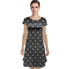 Scales2 Black Marble & Gray Leather (r) Cap Sleeve Nightdress by trendistuff