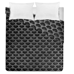 Scales3 Black Marble & Gray Leather Duvet Cover Double Side (queen Size) by trendistuff
