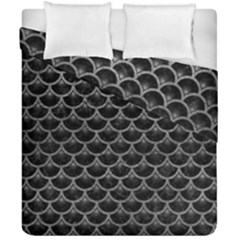 Scales3 Black Marble & Gray Leather Duvet Cover Double Side (california King Size) by trendistuff