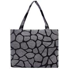 SKIN1 BLACK MARBLE & GRAY LEATHER Mini Tote Bag