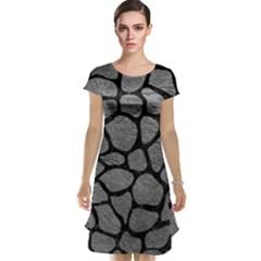SKIN1 BLACK MARBLE & GRAY LEATHER Cap Sleeve Nightdress