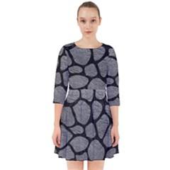 SKIN1 BLACK MARBLE & GRAY LEATHER Smock Dress