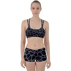 Skin1 Black Marble & Gray Leather (r) Women s Sports Set by trendistuff