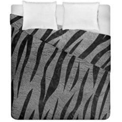 Skin3 Black Marble & Gray Leather (r) Duvet Cover Double Side (california King Size) by trendistuff