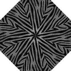Skin4 Black Marble & Gray Leather Golf Umbrellas by trendistuff