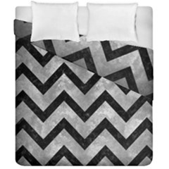 Chevron9 Black Marble & Gray Metal 2 (r) Duvet Cover Double Side (california King Size) by trendistuff