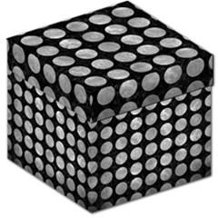 Circles1 Black Marble & Gray Metal 2 Storage Stool 12   by trendistuff