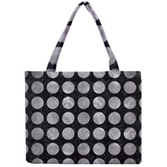 Circles1 Black Marble & Gray Metal 2 Mini Tote Bag by trendistuff