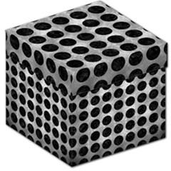 Circles1 Black Marble & Gray Metal 2 (r) Storage Stool 12   by trendistuff
