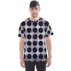 Circles1 Black Marble & Gray Metal 2 (r) Men s Sports Mesh Tee