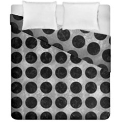 Circles1 Black Marble & Gray Metal 2 (r) Duvet Cover Double Side (california King Size) by trendistuff