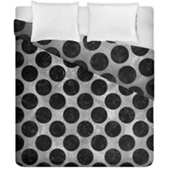 Circles2 Black Marble & Gray Metal 2 (r) Duvet Cover Double Side (california King Size) by trendistuff