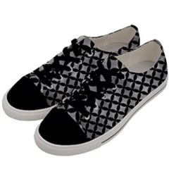 Circles3 Black Marble & Gray Metal 2 (r) Men s Low Top Canvas Sneakers by trendistuff