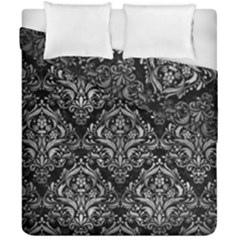 Damask1 Black Marble & Gray Metal 2 Duvet Cover Double Side (california King Size) by trendistuff