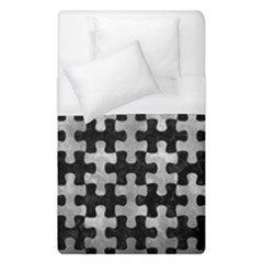 Puzzle1 Black Marble & Gray Metal 2 Duvet Cover (single Size) by trendistuff
