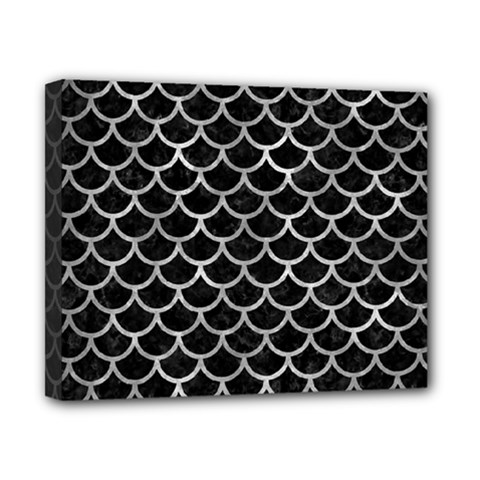 Scales1 Black Marble & Gray Metal 2 Canvas 10  X 8  by trendistuff