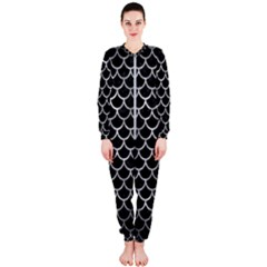 Scales1 Black Marble & Gray Metal 2 Onepiece Jumpsuit (ladies)