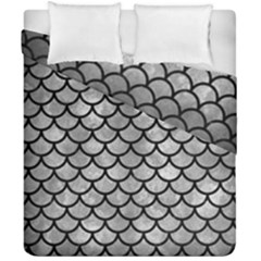Scales1 Black Marble & Gray Metal 2 (r) Duvet Cover Double Side (california King Size) by trendistuff
