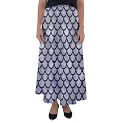 Scales1 Black Marble & Gray Metal 2 (r) Flared Maxi Skirt by trendistuff