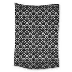 Scales2 Black Marble & Gray Metal 2 Large Tapestry by trendistuff