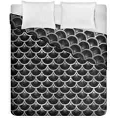 Scales3 Black Marble & Gray Metal 2 Duvet Cover Double Side (california King Size) by trendistuff