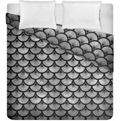 Scales3 Black Marble & Gray Metal 2 (r) Duvet Cover Double Side (king Size) by trendistuff