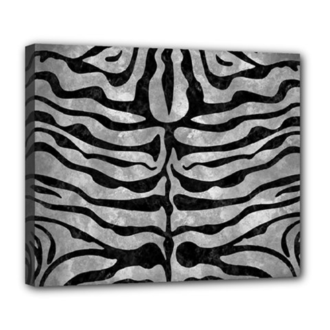 Skin2 Black Marble & Gray Metal 2 (r) Deluxe Canvas 24  X 20   by trendistuff
