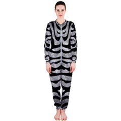 Skin2 Black Marble & Gray Metal 2 (r) Onepiece Jumpsuit (ladies)
