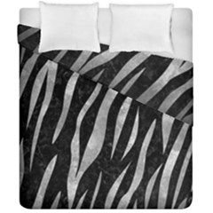 Skin3 Black Marble & Gray Metal 2 Duvet Cover Double Side (california King Size) by trendistuff