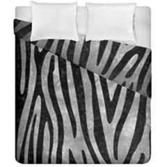 Skin4 Black Marble & Gray Metal 2 Duvet Cover Double Side (california King Size) by trendistuff