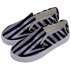 Skin4 Black Marble & Gray Metal 2 (r) Kids  Canvas Slip Ons by trendistuff
