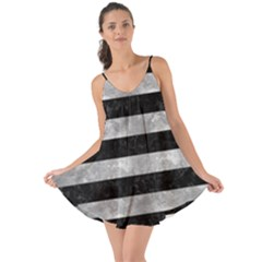 Stripes2 Black Marble & Gray Metal 2 Love The Sun Cover Up