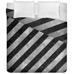 Stripes3 Black Marble & Gray Metal 2 Duvet Cover Double Side (california King Size) by trendistuff