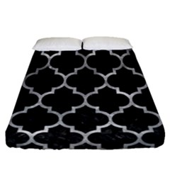 Tile1 Black Marble & Gray Metal 2 Fitted Sheet (queen Size) by trendistuff