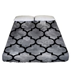 Tile1 Black Marble & Gray Metal 2 (r) Fitted Sheet (queen Size) by trendistuff
